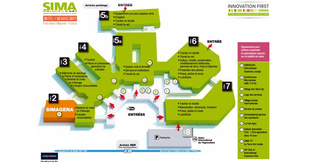 le plan du sima 2017