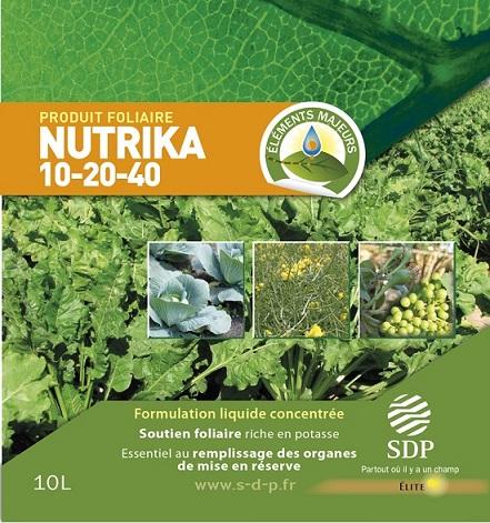 Photo du Engrais foliaire Nutrika 10/20/40