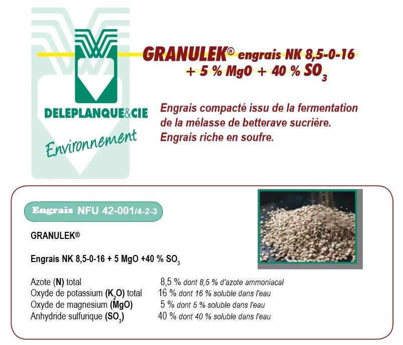 Photo du Engrais à base d'Azote et de Potasse Granulek
