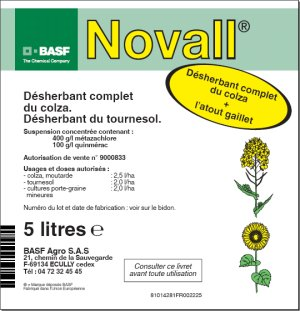Photo du Herbicides Oléagineux Novall