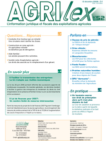 Photo du magazines, journaux agricoles Agrilex
