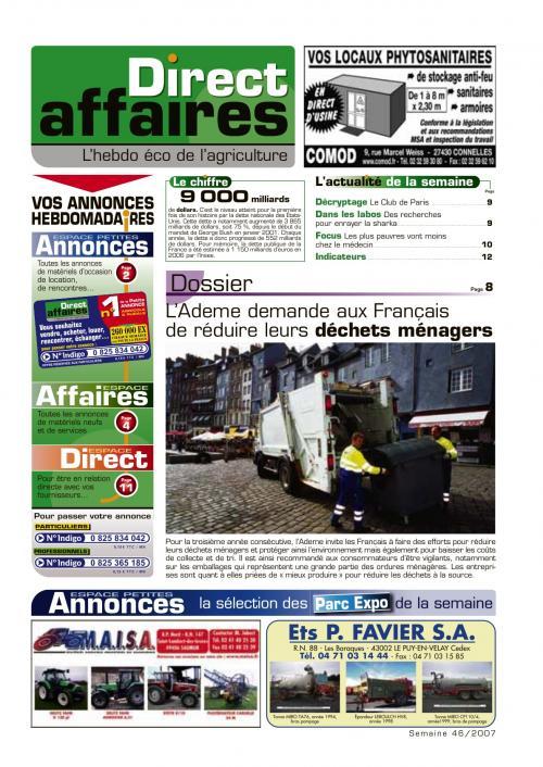 Photo du Sites internet de matériels agricoles d'occasion direct-affaires.fr