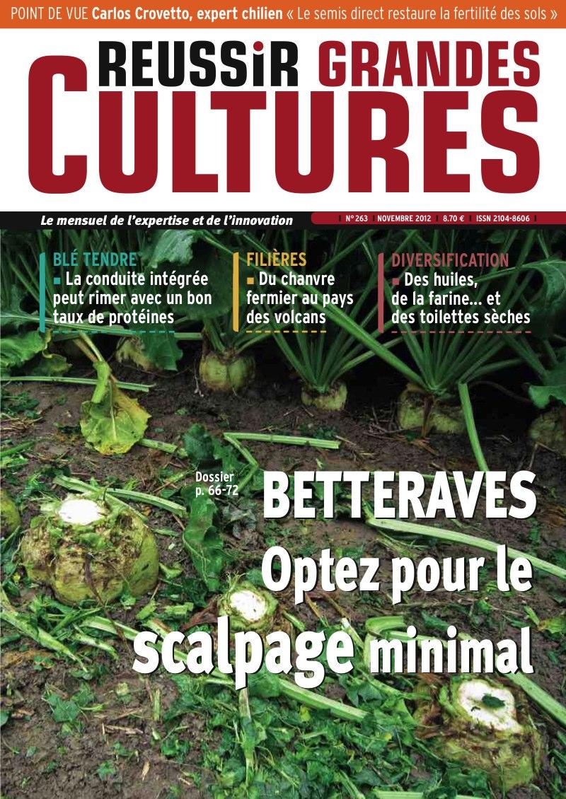 Photo du magazines, journaux agricoles Reussir Céréales Grandes Cultures
