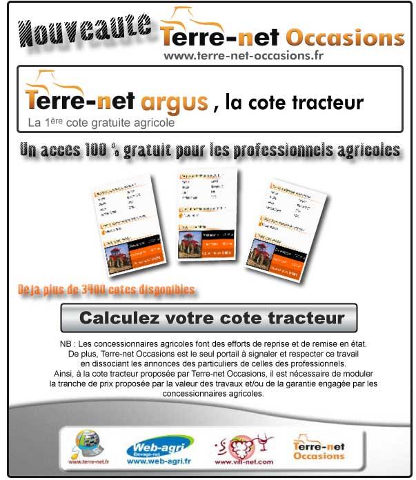 Photo du Sites internet de matériels agricoles d'occasion Terre-net Argus