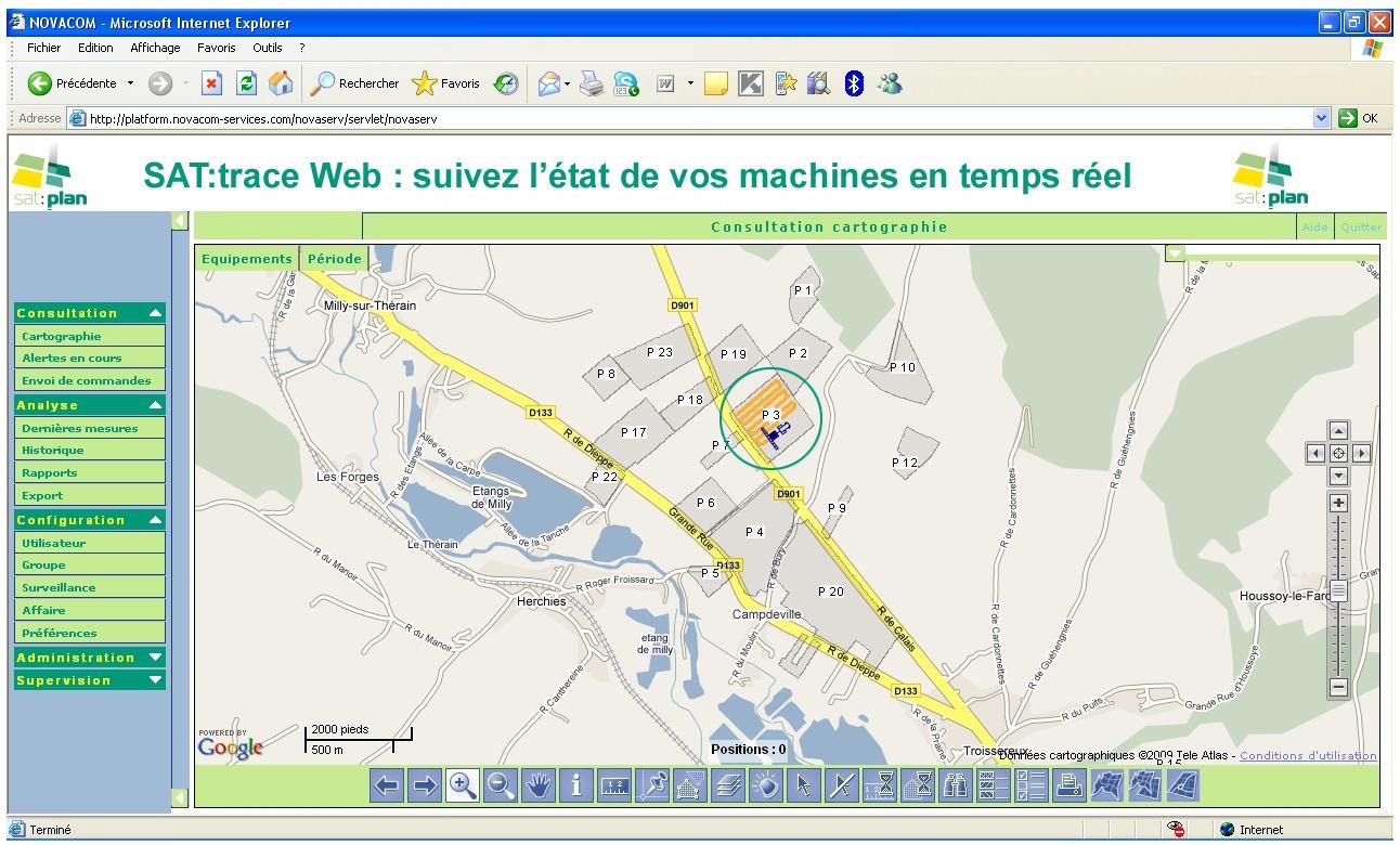Photo du Surveillance, Caméra de recul SAT:trace Web