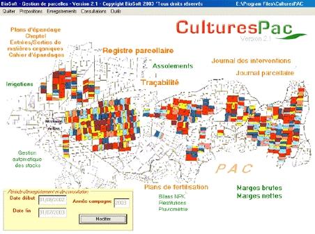 Photo du Logiciel de traçabilité, PPF, déclaration PAC Cultures PAC