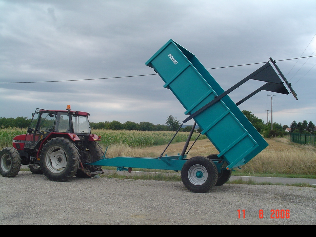 Photo du Remorques agricoles BP 45, BP 60 et BP 72 Mono