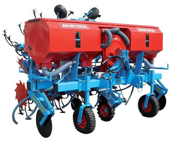 Photo du Bineuses Bineuse maïs 6 rangs avec fertiliseur grande capacité (980 litres)