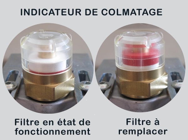 Photo du Distribution carburant indicateur de colmatage