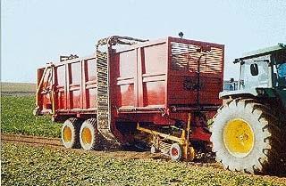 Photo du Récolte des betteraves Débardeuse Tractée DT40