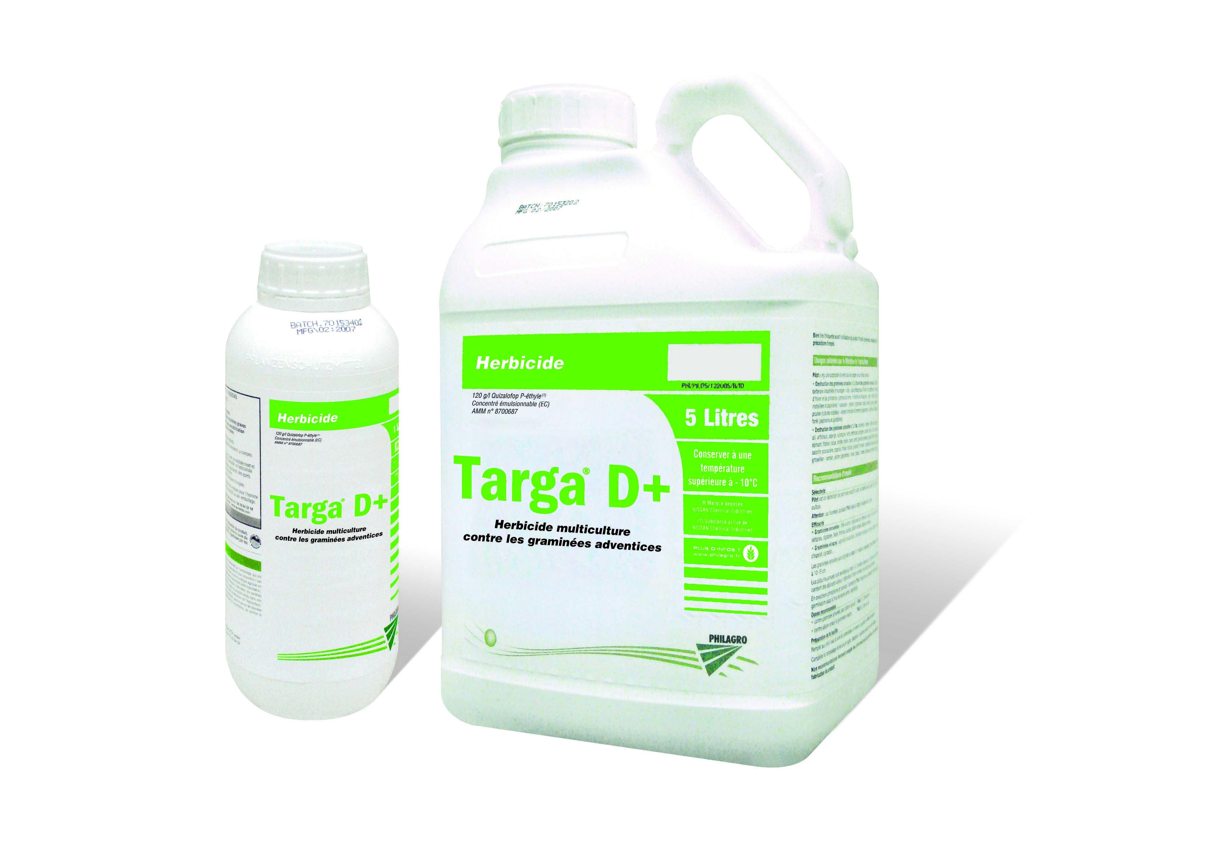 Photo du Herbicides cultures industrielles Targa D+