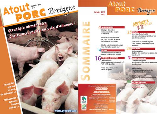 Photo du magazines, journaux agricoles Atout Porc Bretagne