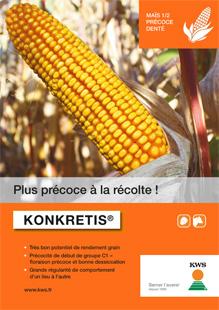 Photo du Variétés de maïs mixte Konkretis