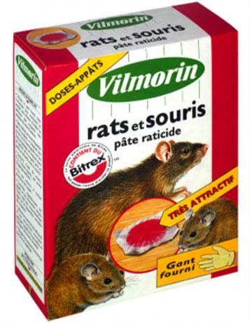 Photo du Raticides Pâte raticide et souricide 150g et 350 g