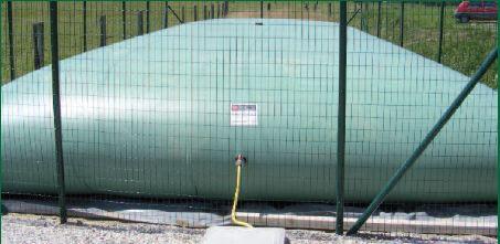 Photo du Cuves, citernes Citernes souples de stockage d'engrais liquide