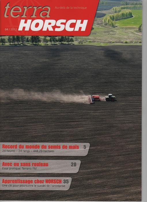 Photo du lettres, magazines promotionnels terra HORSCH