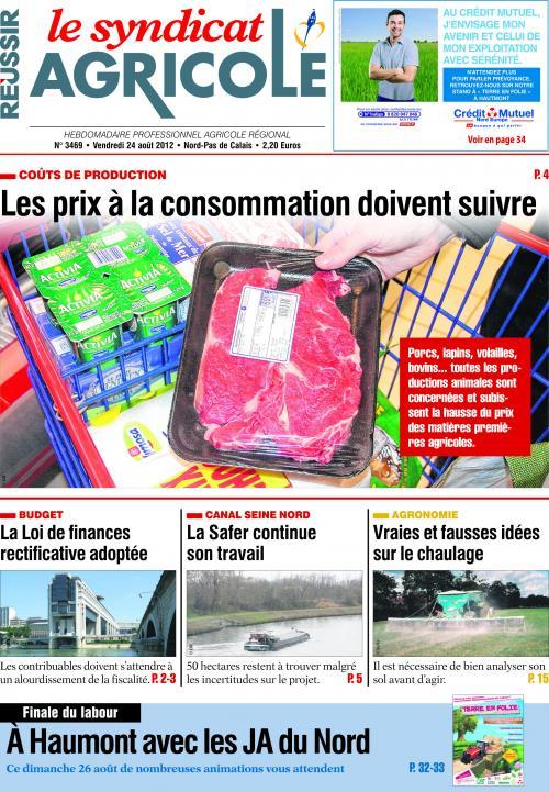 Photo du magazines, journaux agricoles Le Syndicat Agricole du Nord et du Pas-de-Calais