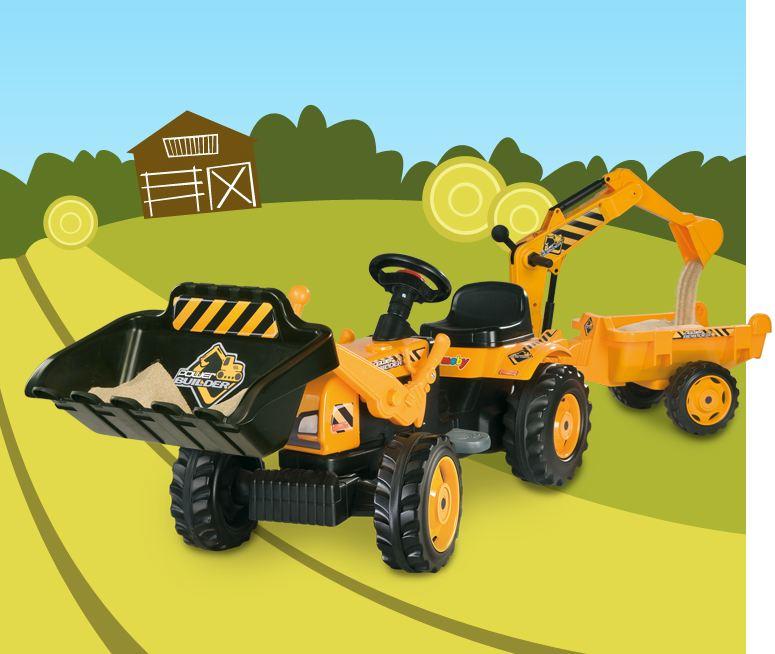 photo du porteurs et tricycles tracteur builder max remorque