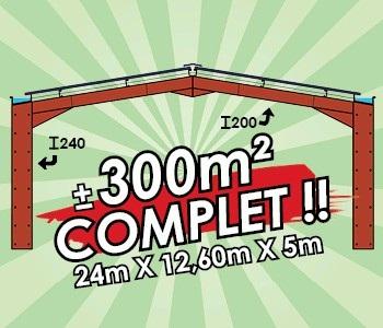 Photo du Construction bâtiments 300m² Complet (24 x 12,60 x 5m)